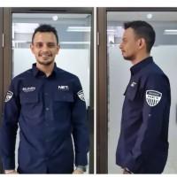 Kemeja Net TV Polos - Baju Seragam Lapangan PDL PDH Organisasi Kerja