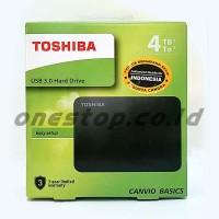 Toshiba Canvio Basic 4TB Harddisk Eksternal 2.5 USB 3.0 Portable