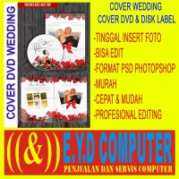 DVD COVER WEDDING PERNIKAHAN DISK LABEL FORMAT PSD PHOTOSHOP KOLEKSI