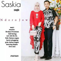 Baju Couple Batik Kebaya Bruklat Sarimbit Kondangan Saskia Couple