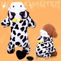 Kostum Anjing Motif Sapi (Cow) Kecil / Baju Anjing & Kucing / Kostum