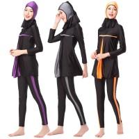 Baju Renang Hijab Muslimah Wanita Dewasa, model pleated