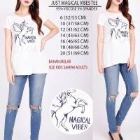 Baju Branded Wanita - JUSTICE MAGICAL VIBES TEE