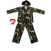 Baju Seragam Harian Brimob Loreng - Baju Polisi anak Baju Brimob anak - S