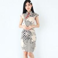 Febinursalisah8 Baju Batik Wanita-Dress Batik Cheongsham Motif Terbaru