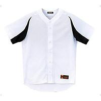 Baju Jersey Baseball Softball Descente DB43M - Putih, L