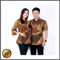 Baju Batik Seragam Cauple Pria Wanita Busana Muslim Fashion Cowok