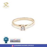 SINAR BERLIAN JEWELLERY - cincin emas asli 700 CMK201 R15