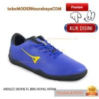 NO 38 ARDILES SKOPJE FL BIRU ROYAL HITAM sepatu pria olahraga futsal