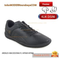 NO 39 ARDILES MACEDONIA FL HITAM HITAM sepatu pria olahraga futsal