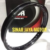 Velg Pelak TDR W SHAPE 160 17 Hitam Black Ring 17 Ukuran 16 Asv 571