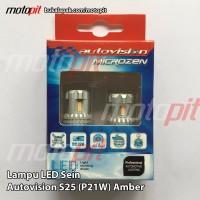 Autovision LED S25 Sein Sign Sen Riting Amber Kuning Emas P2 rem Sad