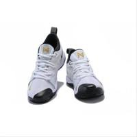 Sepatu Sneakers Olahraga Model hellm Nike Paul George 2 Putih Emas Pr