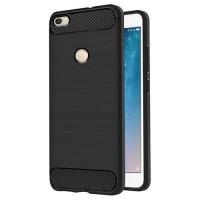 Casing Slim Fit Xiaomi Mi Max 2 Carbon Softcase Elegan Black