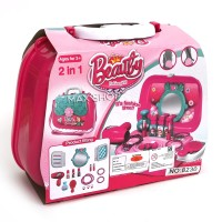 Mainan Anak Perempuan Beauty Fashion Girl Bag 2 in 1 Koper Pink Set