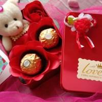 Kado/Hadiah/Hampers/Coklat/Boneka/Bunga Valentine -Double Choco in Box