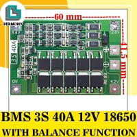 BMS 3S 40A 12V 18650 Charger with Balance