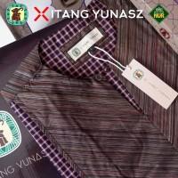 Baju Koko Kemeja Itang Yunaz & Gajah Duduk Brown V Long Exclusive