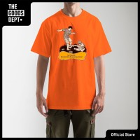 The Goods Dept Kaos Pria Wanita SWALLOW KAMENGSKI Orange