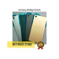 BACKDOOR COVER TUTUP BELAKANG SONY Z5 BIG 5.2 INCH - E6653 - E6603 ORI - Silver