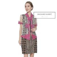 Setelan Kebaya dan Dress Pesta Madame Rabbit Batil Sogan Pink Payet