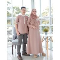 Baju Muslim Pasangan Couple Moscrepe mentari couple