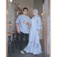 Baju Pasangan Couple MUSLIM /MUSLIMAH COUPLE amuzen flaminggo