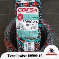 Corsa Terminator 80/90-14 Ban Matic Tubeless BONUS Pentil