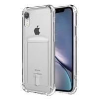 Anti Crack Card Holder Kartu Iphone XR case casing cover