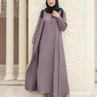 Baju Gamis Jumbo Gamis Syari Wanita Terbaru Shiya Dress Jumbo Termurah - Purple