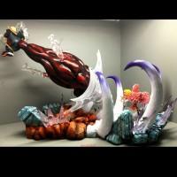 Resin Statue Luffy Gear 4 vs Dofflamingo By Jacksdo