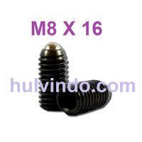 BALL PLUNGER / BALL POINT SET SCREW M8 X 16