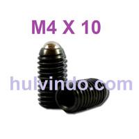 BALL PLUNGER / BALL POINT SET SCREW M4 X 10