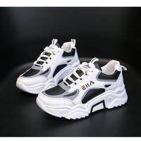 Sepatu Olahraga Wanita Sneaker Kets Perempuan Sneakers Import SP-102 - Hitam, 37