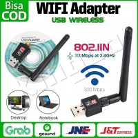 USB Wifi Adapter 300 Mbps + ANTENA Wireless Portable 2.0 NEW Update