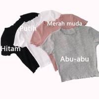 Baju fashion rajut wanita-cewek lengan pendek / Tshirt Rajut Kriwil