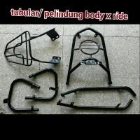 bodyguard / pelindung bodi / tubular motor x ride hitam aksesoris p