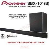 Pioneer SBX101 SBX 101 soundbar with wireless subwoofer and USB input