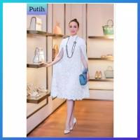 baju gaun pesta brukat wanita jumbo xxl bigsize brokat dress putih