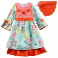 Gamis Anak Fashion Bahan Katun / Baju Muslim Anak Termurah 2936