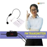 Headset Mic FM Transmitter Wireless Microphone Headset for Guide Tour