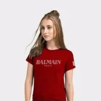 Gelmello Kaos Cewek T-Shiert Oblong Wanita Atasan Tumber Tee 195