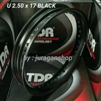 Velg TDR U shape 2.50 x 17 BLACK
