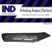 Cover-Tutup-Pelindung Knalpot Vixion New NVA-NVL-VXN 150 Karbon-Carbon
