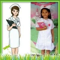 Baju profesi suster/kostum karnaval/pawai anak perempuan - 2-3 tahun