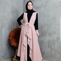 Baju Gamis Syari Wanita Terbaru Jill Set Dress Outer Termurah