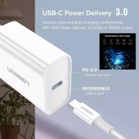 Ugreen 18W PD Fast Charger QC 4.0 3.0 for iPhone Samsung Xiaomi Huawei