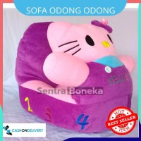 Sofa Odong Odong mainan anak kuda kudaan Karakter Hello Kitty Ungu