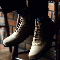 Sepatu Kulit Boots Pria Casual - Paul Crispbone Tan UKURAN BESAR