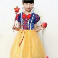baju anak perempuan snow white dress import putri salju